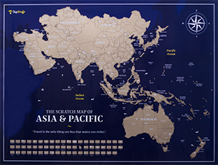 Scratch Map of Asia & Pacific